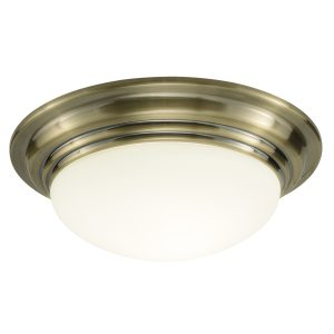 Barclay Small Flush IP44 Antique Brass