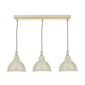 Blyton 3 Light Bar Pendant C/W Painted Shds