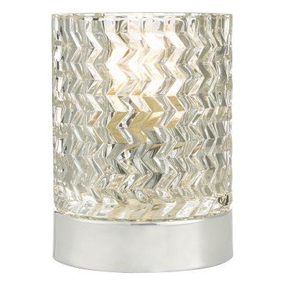 Braydon Touch Table Lamp Pol Chr Glass