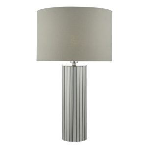 Cassandra Table Lamp Polished Chrome C/W Shade