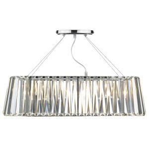 Cecilia 3 Light G9 Oval Linear Pendant Bar