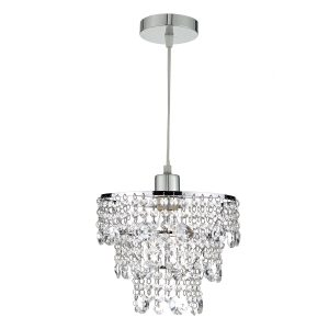 Cybil Crystal Non Elec Polished Chrome