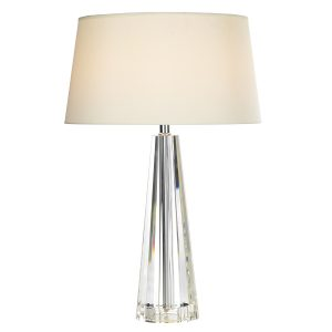 Cyprus Table Lamp Tapered Crystal C/W CYP1233 Shade