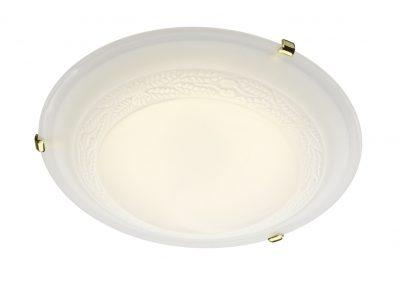 Damask 50CM Flush Brass & Glass