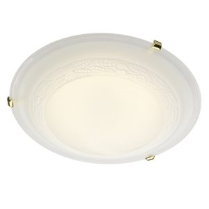 Damask 40CM Diam Flush Brass