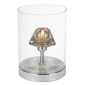 Decade Table Lamp Polished Chrome/ Clear Touch
