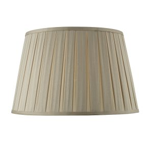 Degas Taupe 45cm Box Pleated Tapered Drum