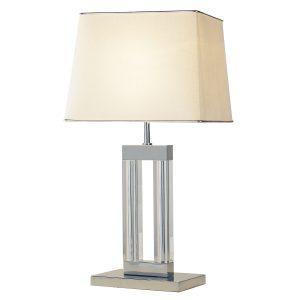 Domain Table Lamp Quartz Glass C/W Shade DOM12