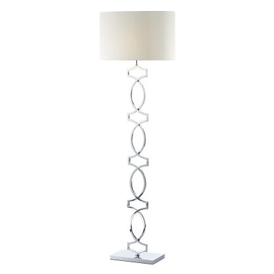 Donovan Floor Lamp Polished Chrome C/W Shade