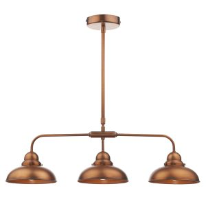 Dynamo 3 Light Bar Pendant Antique Copper