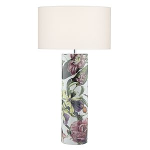 Elana Ceramic Table Lamp Tropical Print Base Only