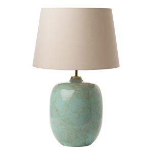Elgar Table Lamp Ceramic & Green Base Only