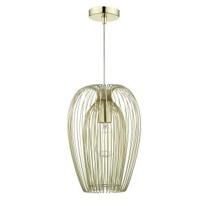 Ero 1 Light Pendant  Gold