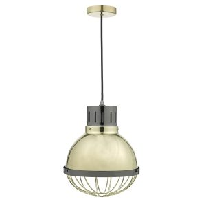 Ethan 1lt Pendant Gold & Black Nickel