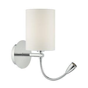 Feta Wall Light LED Polished Chrome Base Only