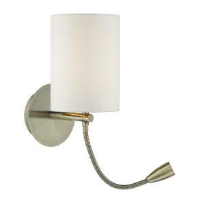Feta Wall Light LED Antique Brass Base Only