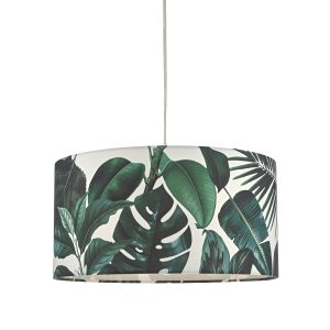 Filip Easy Fit Pendant Green Leaf Print