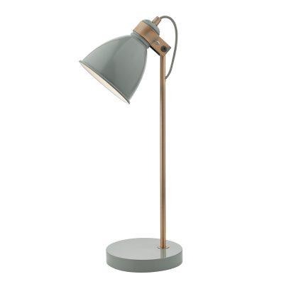 Frederick Task Lamp Grey & Copper