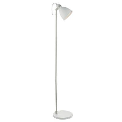 Frederick Floor Lamp White & Satin Chrome