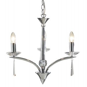 Hyperion 3 Light Dual Mount Pendant Polished Chrome