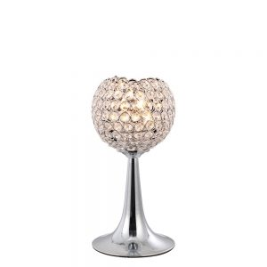 Ava Table Lamp 2 Light Chrome/Crystal