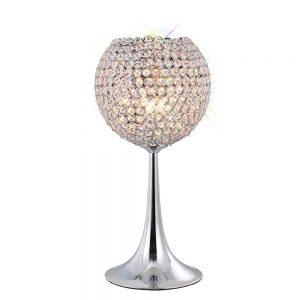 Ava Table Lamp 3 Light Chrome/Crystal