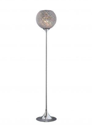 Ava Floor Lamp 5 Light Chrome/Crystal