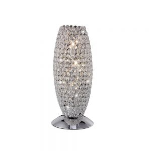 Kos Table Lamp 3 Light Chrome/Crystal