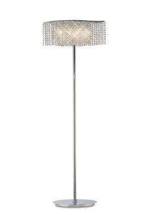 Fabio Floor Lamp 4 Light Chrome/Crystal