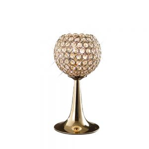 Ava Table Lamp 2 Light French Gold/Crystal