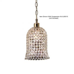 Kudo Bell Shade  French Gold/Crystal