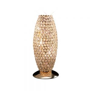 Kos Table Lamp 3 Light French Gold/Crystal