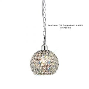 Kudo Ball Shade  Chrome/Crystal