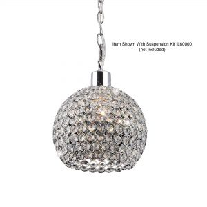 Kudo Crystal Ball Shade  Chrome/Crystal