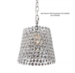 Kudo Crystal Lamp Shade   Chrome/Crystal