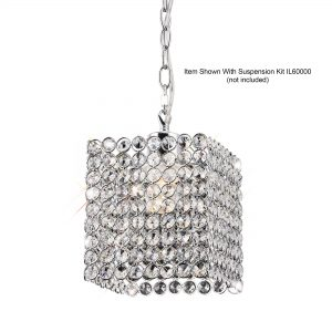 Kudo Crystal Square Shade  Chrome/Crystal