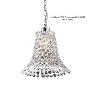 Kudo Crystal Cone Shade   Chrome/Crystal