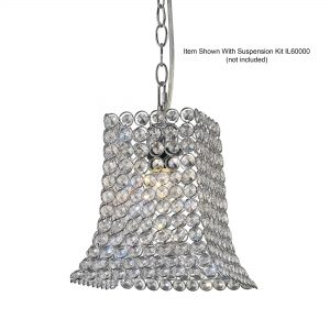 Kudo Crystal Curved Trapezium Shade  Chrome/Crystal