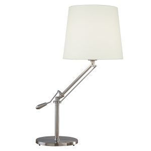 Infusion Table Lamp Satin Chrome Complete C/W Shade INF102