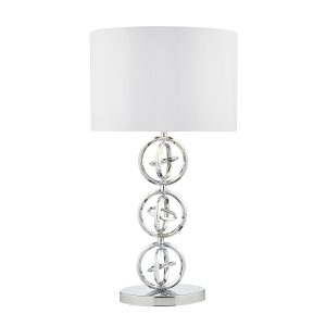 Innsbruck Table Lamp Polished Chrome c/w Ivory Shade
