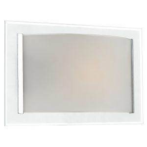 Inverse 1 Light Glass Wall Bracket Polished Chrome Trim