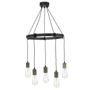 Ivan 5 Light Pendant Rustic