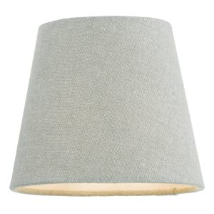Grey 13cm Linen Tapered Drum Shade