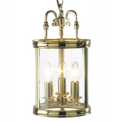 Lambeth Lantern Circular Hall Dual Mount Polished Brass