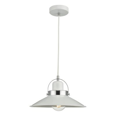 Liden 1Lt Pendant White and Polished Chrome