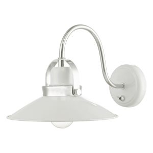 Liden Wall Light White and Polished Chrome