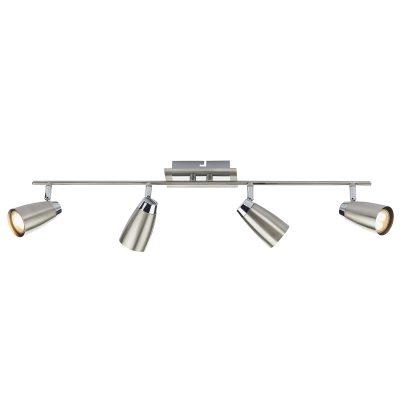 Loft 4 Light Low Energy Bar Satin Chrome/ Polished Chrome