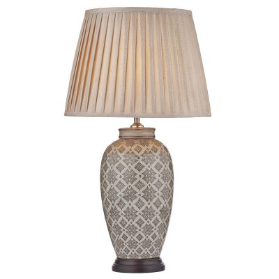 Louise Table Lamp Brown/Cream Base Only