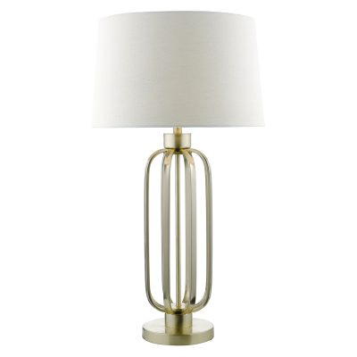 Lucie Table Lamp Satin Brass C/W Shade