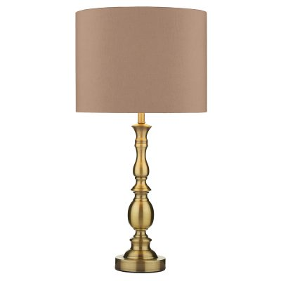 Madrid Ball Table Lamp Antique Brass C/W Shade